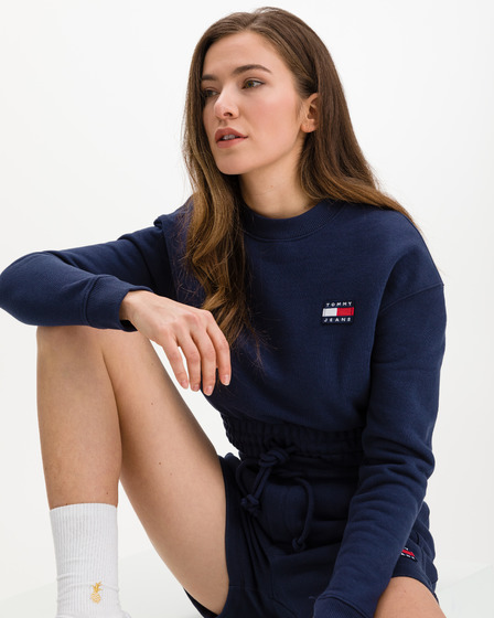 Tommy Jeans Super Cropped Badge Bluza